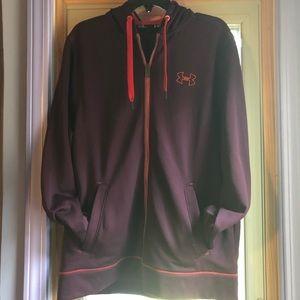 Under Armour maroon zip-up sweatshirt